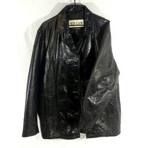 Wilsons Men's M. Julian Leather Jacket Coat Size M